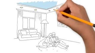 D`Efre Design - Натяжные потолки (Doodle video)(Дудл-видео для рекламы натяжных потолков от компании