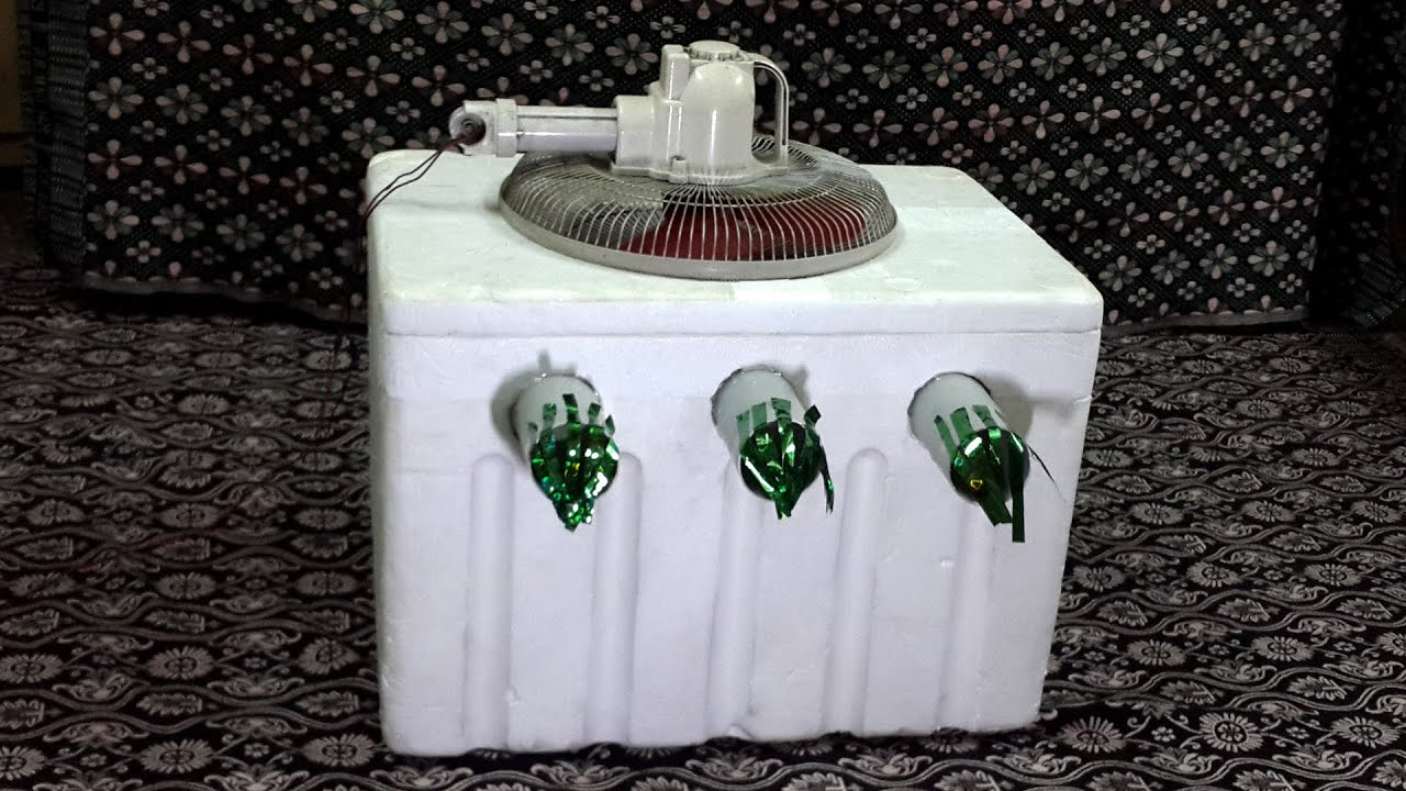 Charge Air Cooler Ice Box : How to make a powerful air cooler using foam box at home