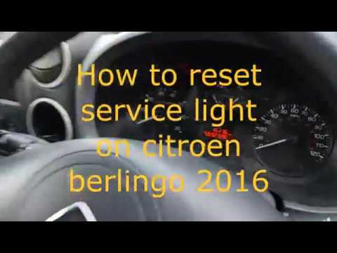 How to reset service interval for citroen berlingo 2016 2015 2014 2013