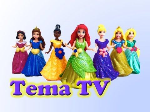 Диснеевские принцессы меряют платья. Видео для детей. Disney Princess MagiClip Collection