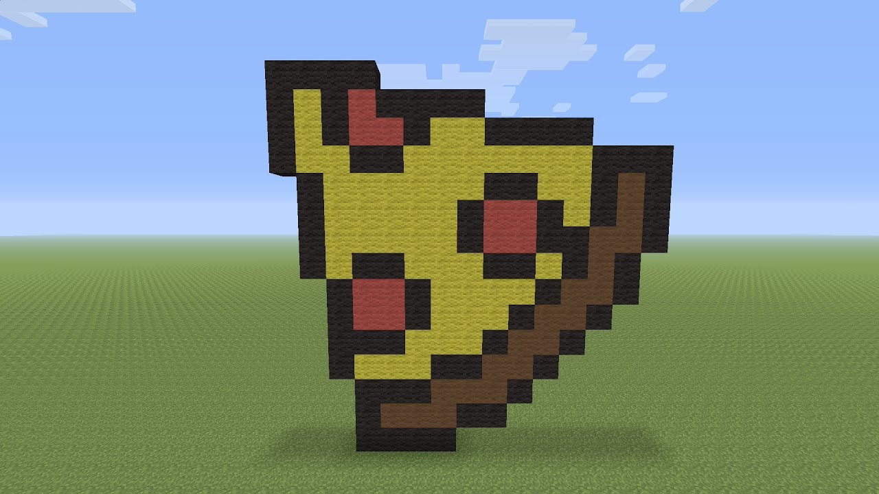 Minecraft Pixel Art Pepperoni Pizza Slice Youtube