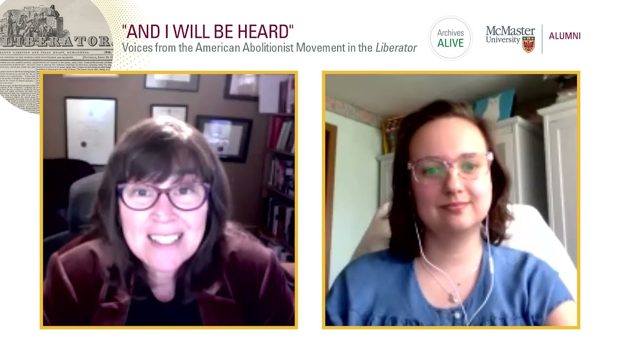"""Image for """"And I will be heard"""": Voices from the American Abolitionist Movement in the Liberator webinar"""