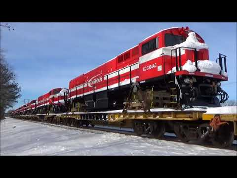NS Train #055 w/ Cameroon, Africa Exports in the Snow (1/8/18)