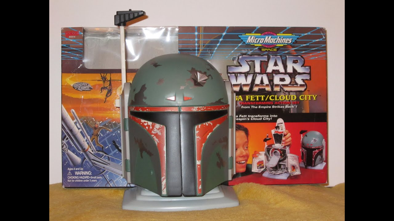 Star Wars MicroMachines Boba Fett Cloud City Transforming Action Set