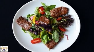 Vegetable Chief Salad With Beef With 10 Ingredients Sauce