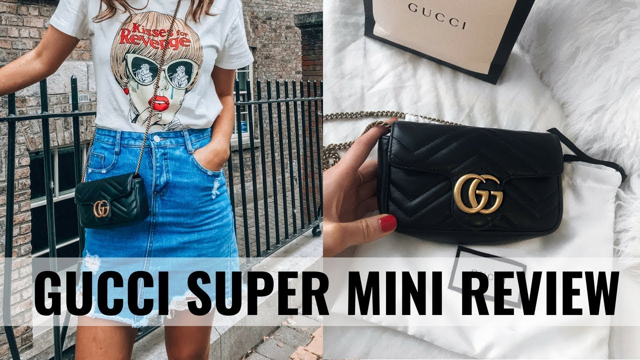 7730291bc GUCCI MARMONT SUPER MINI REVIEW / WHAT FITS & 6 WAYS TO WEAR IT ...