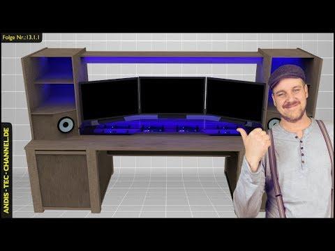 multimedia schreibtisch selber bauen f r gamer gaming. Black Bedroom Furniture Sets. Home Design Ideas