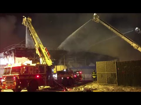 FDNY Fighting A Huge 7th Alarm Warehouse Fire 18 Hours After It Started In Williamsburg, Brooklyn