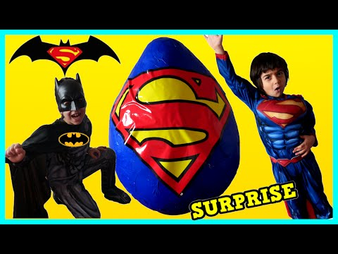 Thumbnail: GIANT EGG SURPRISE OPENING Batman vs Superman Toys Kids Video SURPRISE TOYS Awesome Toys Collectors