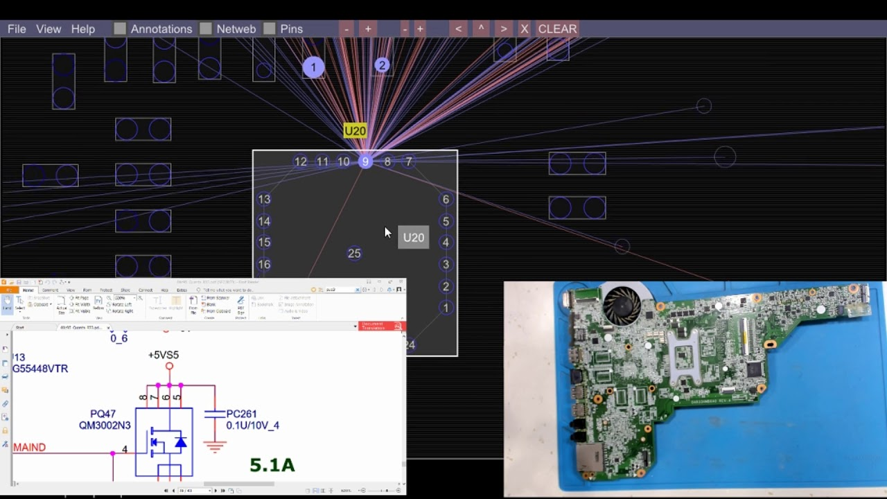 laptop schematics boardview logic board repair [ 1280 x 720 Pixel ]