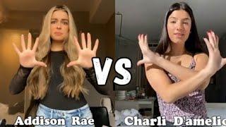 Charli d'amelio vs addisonrae tiktok
