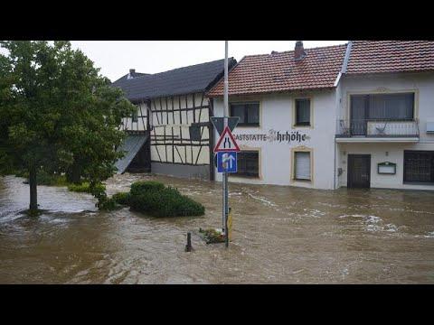 Trágicas inundaciones en Alemania, con al menos 5 muertos y más de 50 desaparecidos