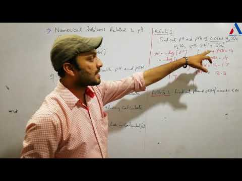 Calculation of pH and pOH of a solution |Numerical Problems of pH Scale|
