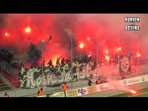 FSV Zwickau 2:2 FC Hansa Rostock 20.03.2017 | Choreos, Pyro & Support