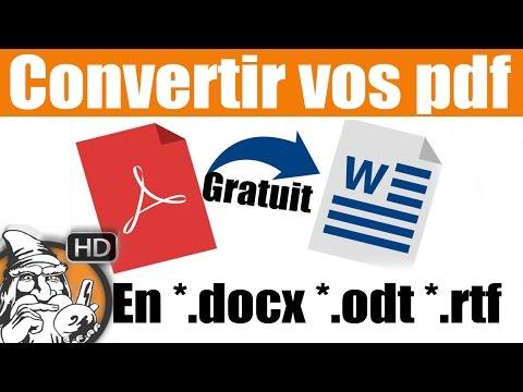 LOGICIEL - Convertir pdf en word - SOLUTION #06