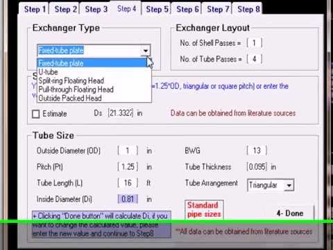 Shell Tube Heat Exchanger Design Software S Thex Youtube