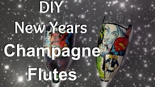 New Years Eve Champagne Flutes DIY