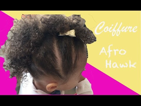 coiffure afro hawk de ma fille m tisse de 2 ans youtube. Black Bedroom Furniture Sets. Home Design Ideas