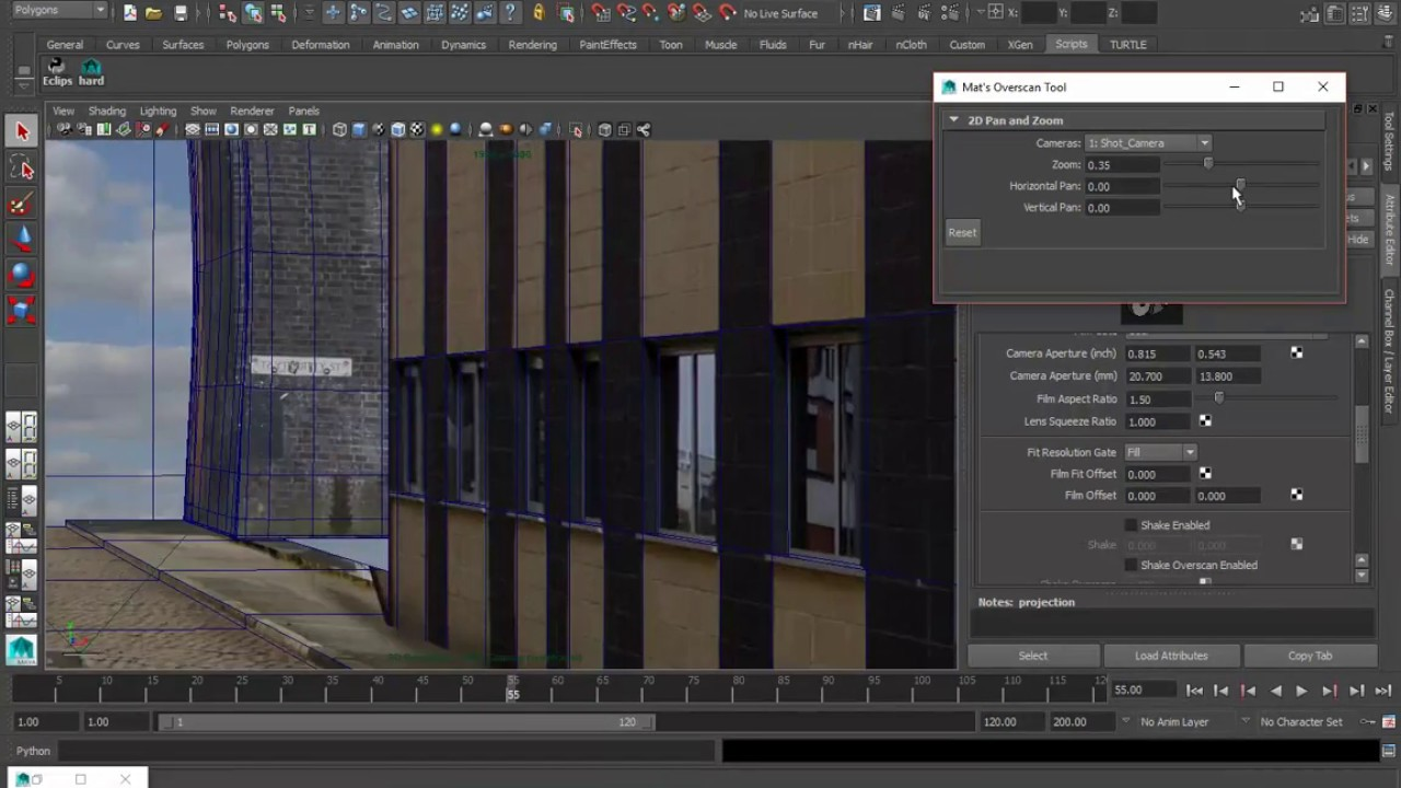 Creating Mattes Using Camera Projection - Part 8 of 10 - Overscan