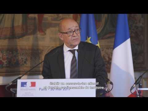 Situation en Syrie - Déclaration de Jean-Yves Le Drian avec Staffan de Mistura - 30 mai 2017