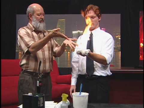 """""""The Happy Scientist"""" lights Brad's hand on fire"""
