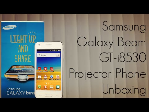 Samsung Galaxy Beam GT-i8530 Projector Phone Unboxing - First in India - PhoneRadar