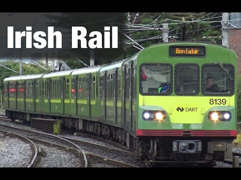 ⁴ᴷ Irish Rail action at Howth Junction in Dublin, Ireland