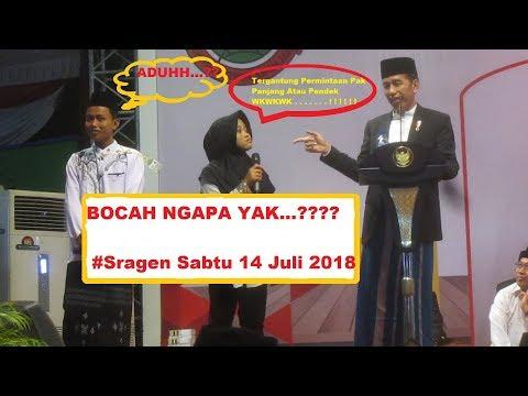 Bocah Ngapa Yak (Di Tanya Jokowi Pakai Bahasa Jawa)