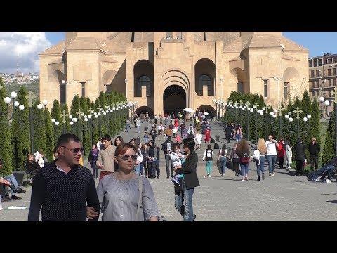 Yerevan, 01.04.18, Su, Video-1, (на рус.), Пасха. Цвь Св.Г.Просветителя.