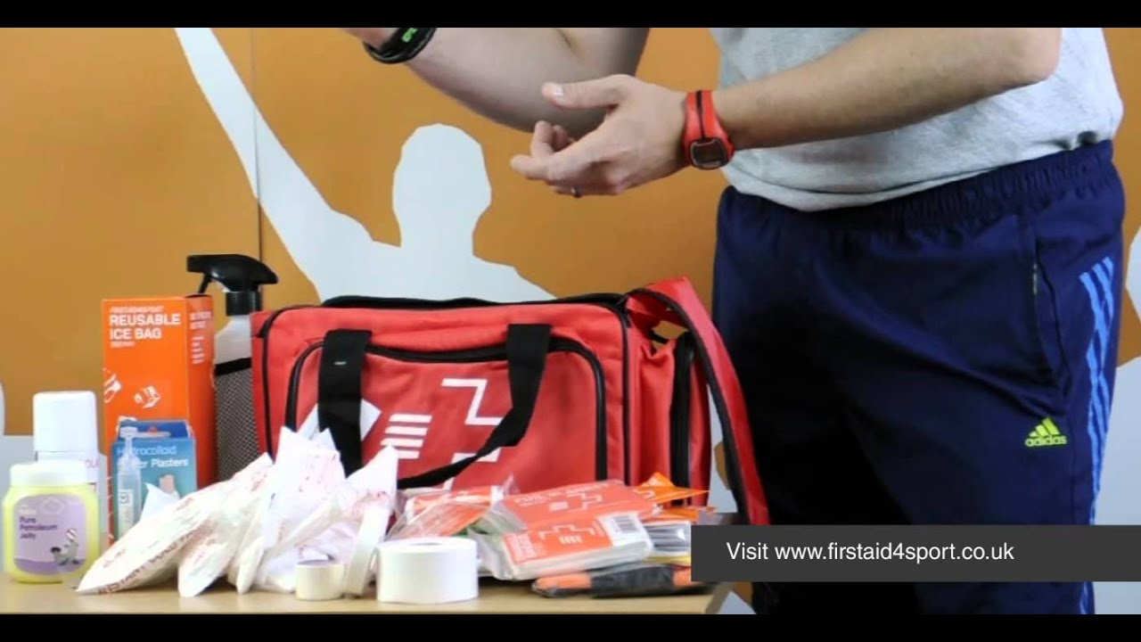 d270c7dc46f2 Firstaid4sport Advanced Football First Aid Kit - YouTube