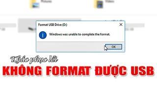 Chu Đặng Phú KHẮC PHỤC LỖI KHÔNG FORMAT ĐƯỢC USB - How to fix USB UNABLE FORMAT ERROR?