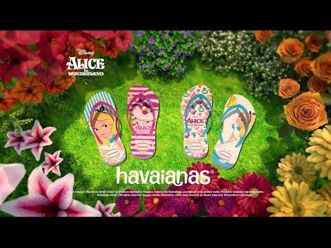 Havaianas Kids Alice no país das maravilhas