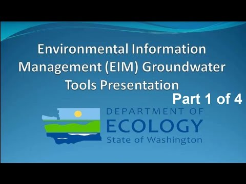 Environmental Information Management (EIM) Database Tools for Groundwater Professionals (Part 1)