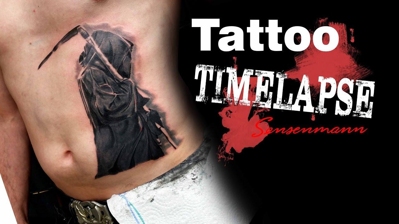 tattoo timelapse sensenmann youtube. Black Bedroom Furniture Sets. Home Design Ideas