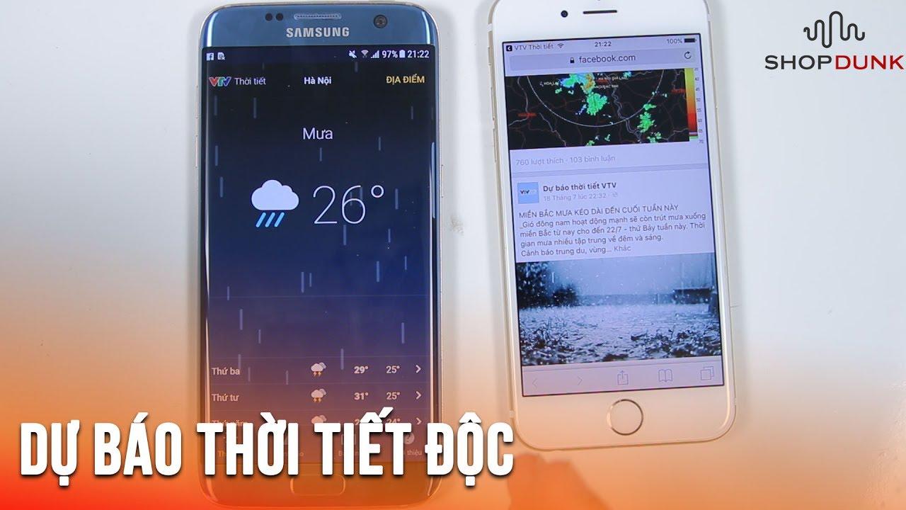 Ứng dụng dự báo thời tiết tốt nhất cho người Việt