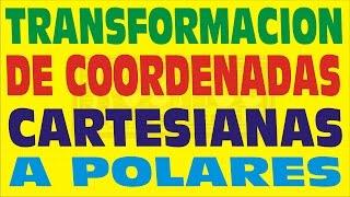 TRANSFORMACION DE COORDENADAS CARTESIANAS A COORDENADAS POLARES-EJERCICIOS RESUELTOS