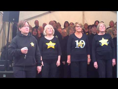 Rock Choir at Hatfield House Frost Fair 2015 (2nd Set)