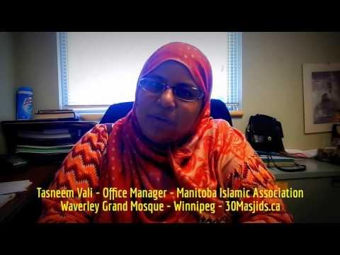 HiMY SYeD - Tasneem Vali, Office Manager, Manitoba Islamic Association, Winnipeg Canada June 21 2016