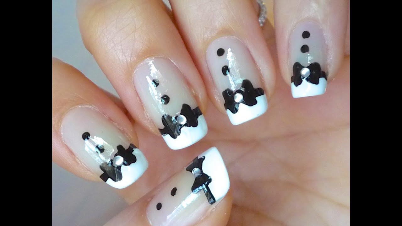 Tuxedo Nails - Nail art - YouTube
