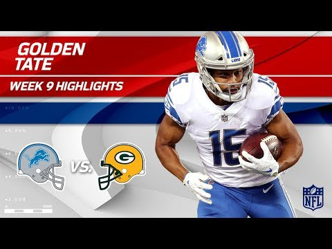 Golden Tate Tears Through Green Bay for 113 Yards! | Lions vs. Packers | Wk 9 Player Highlights