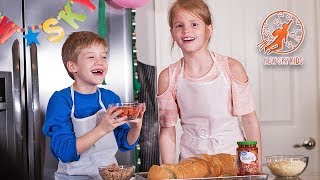 Kids Kitchen Real Recipes 6 -  Kids Cooking French Bread Pizza