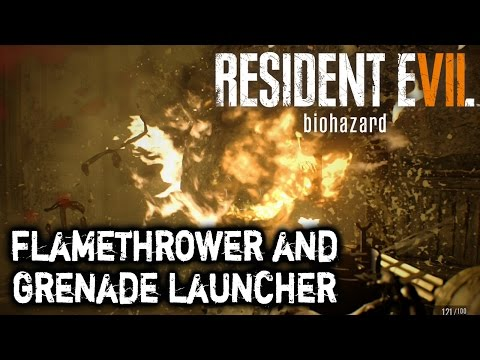 Resident Evil 7 - Flamethrower and Grenade Launcher Locations