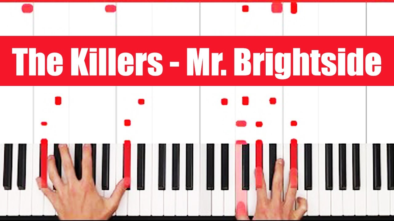 Mr Brightside The Killers Piano Tutorial Easy Chords