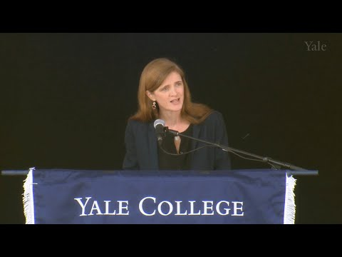 Ambassador Samantha Power '92, Yale College Class Day Speaker