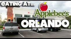EATING AT - APPLEBEE'S  RESTAURANT - CELEBRATION - ORLANDO