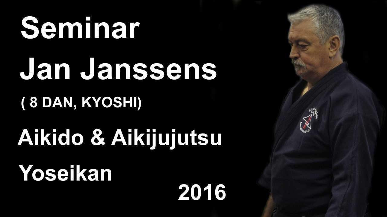 Demonstration 19: sensei Jan Janssens 8 DAN, KYOSHI aikido aikijujutsu yoseikan
