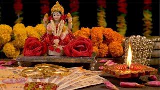 Diwali celebration and puja in India with Goddess Lakshmi and diya