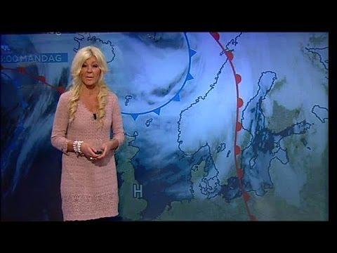 Maria Montazami läser vädret - Nyhetsmorgon (TV4)