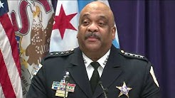 Chicago police Supt. Eddie Johnson announces retirement