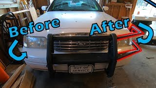 Part 3 - Installing the Wraps - GoRhino Push Bumper on Ford Crown Victoria Police Interceptor